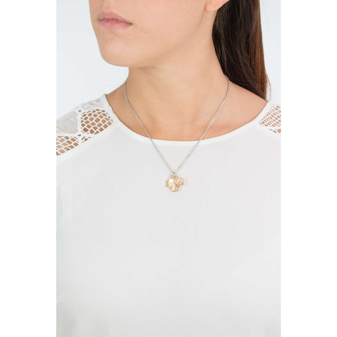 Luca Barra necklaces woman LBCK444 photo wearing