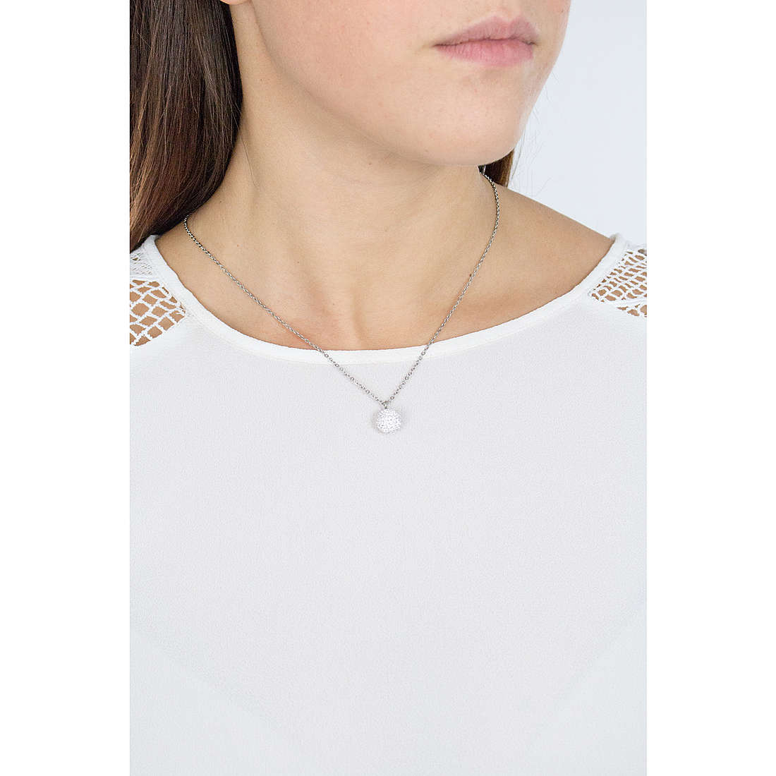 Luca Barra necklaces woman LBCK664 photo wearing