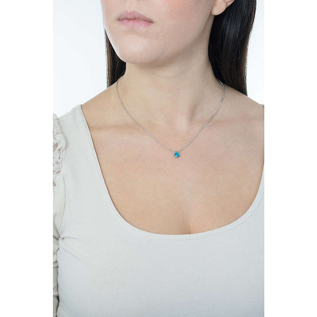 Luca Barra necklaces woman LBCK695 photo wearing