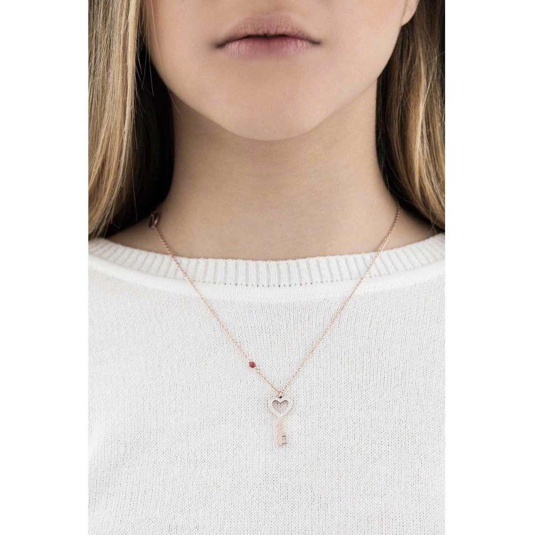 Marlù necklaces Clover woman 18CN025R indosso