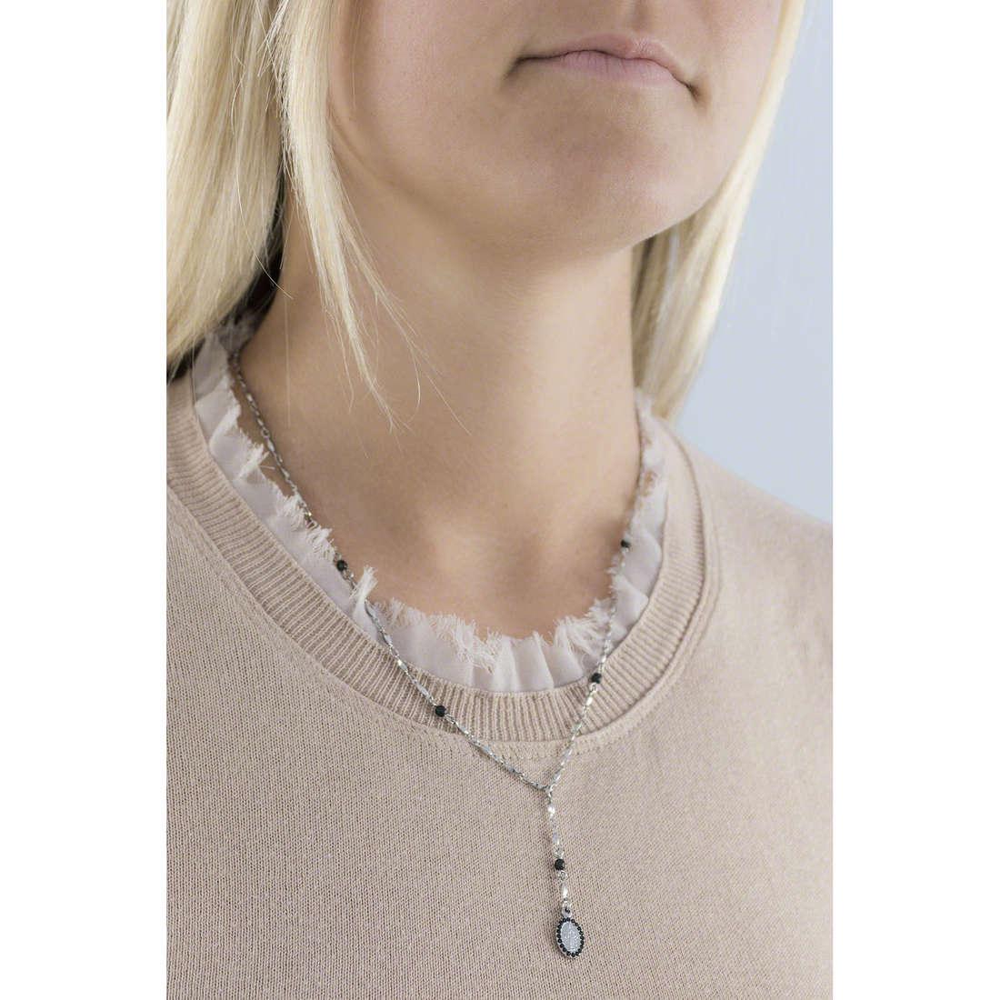 Marlù necklaces Sacral Dark woman 13CO021N indosso