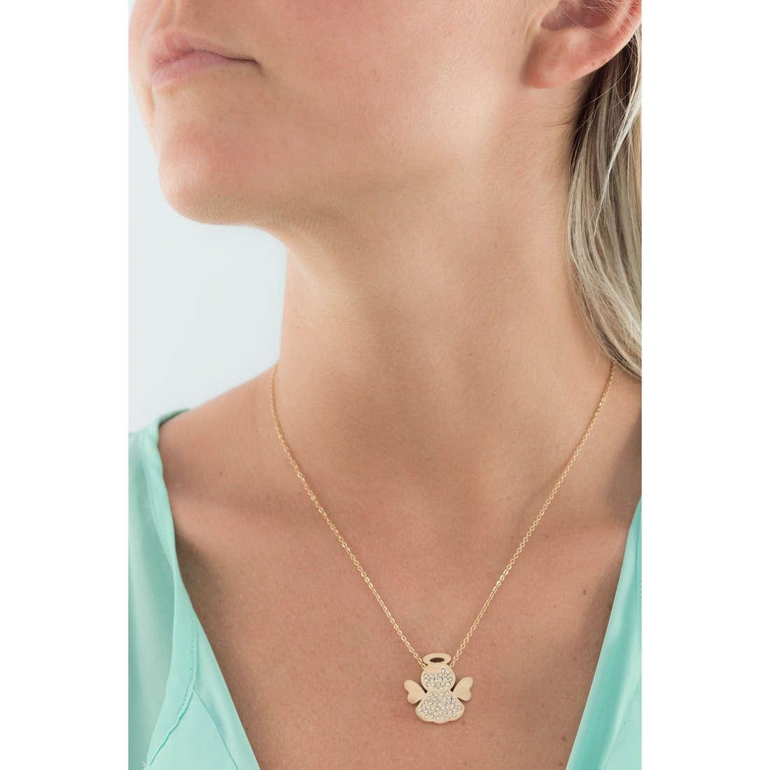Sagapò necklaces Angels woman SAGAPOSNG06 indosso