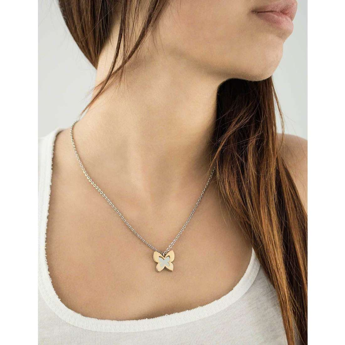 Sagapò necklaces BUTTERFLY woman SBF03 indosso