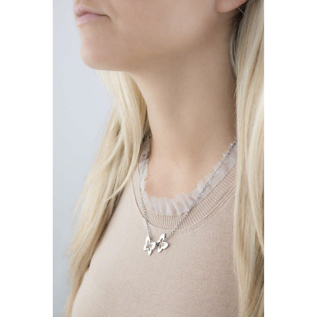 Sagapò necklaces BUTTERFLY woman SBF04 indosso