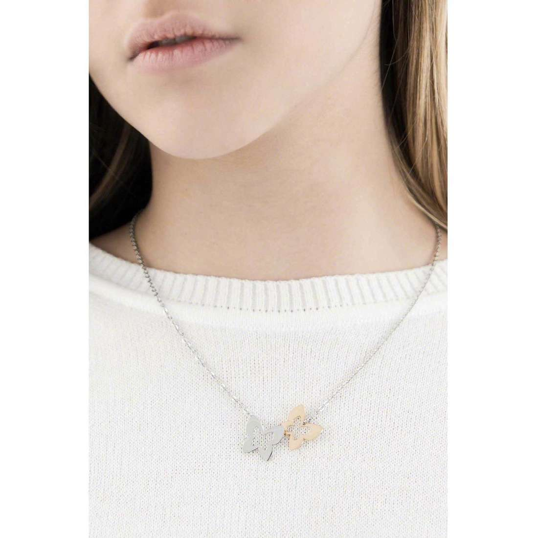 Sagapò necklaces BUTTERFLY woman SBF05 indosso