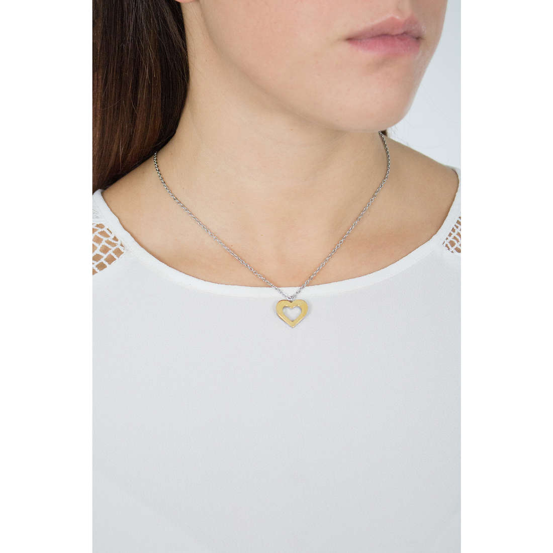 Sagapò necklaces BUTTERFLY woman SBF08 indosso