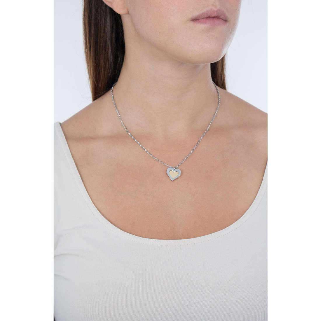 Sagapò necklaces BUTTERFLY woman SBF09 indosso