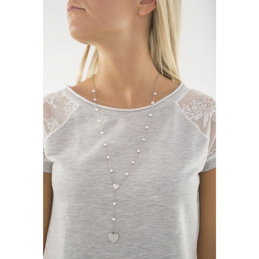 Sagapò necklaces Faith woman SFH02 indosso