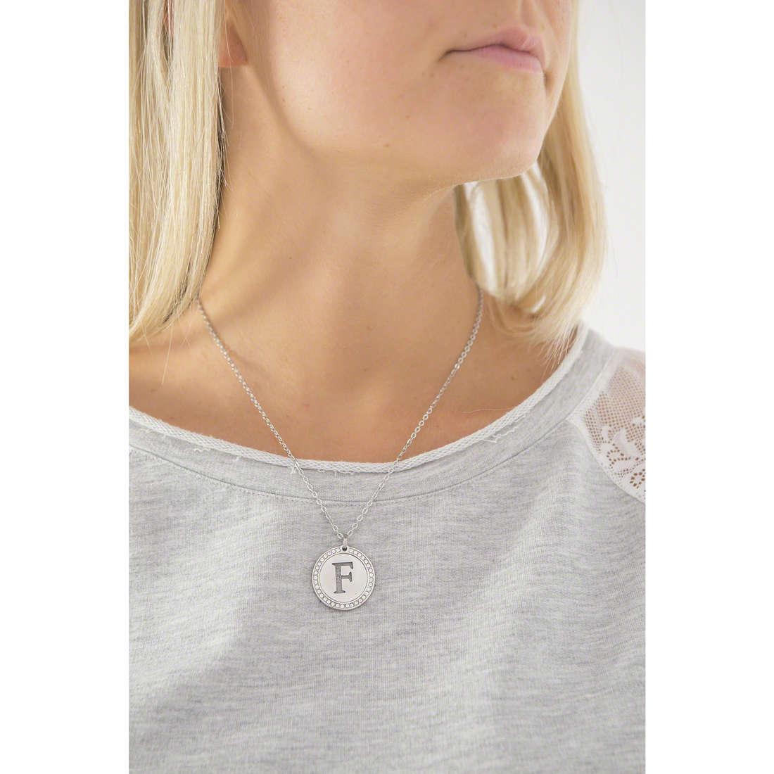 Sagapò necklaces LetteRing woman SLR06 indosso