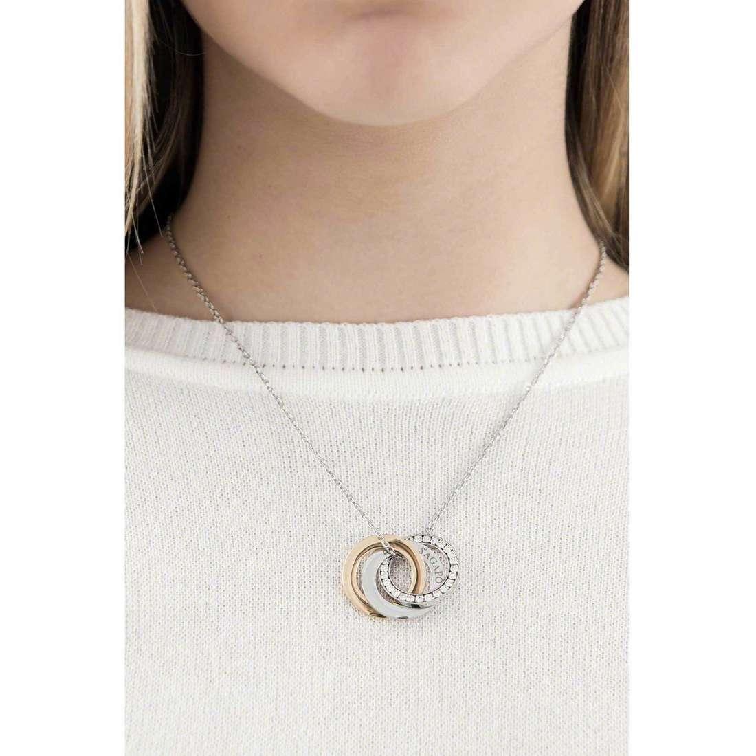 Sagapò necklaces Trinidad woman STR04 indosso
