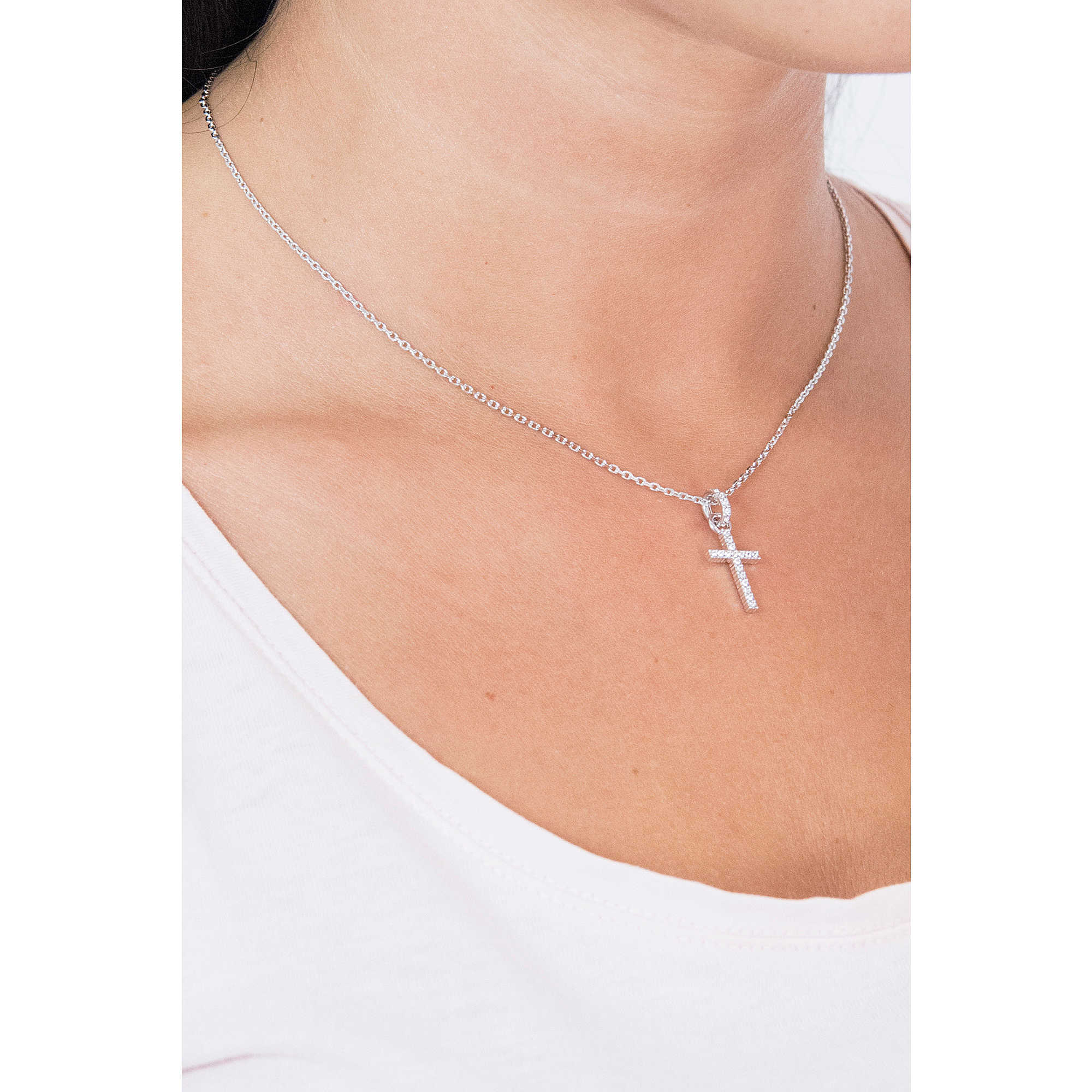 c35066cd8e necklace woman jewellery Swarovski Mini Cross 956722 necklaces Swarovski