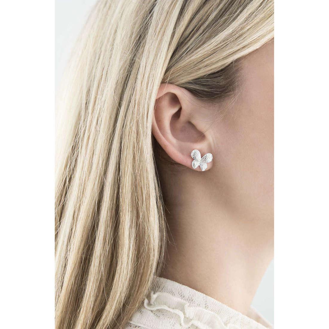 Comete orecchini Farfalle donna ORA 105 indosso