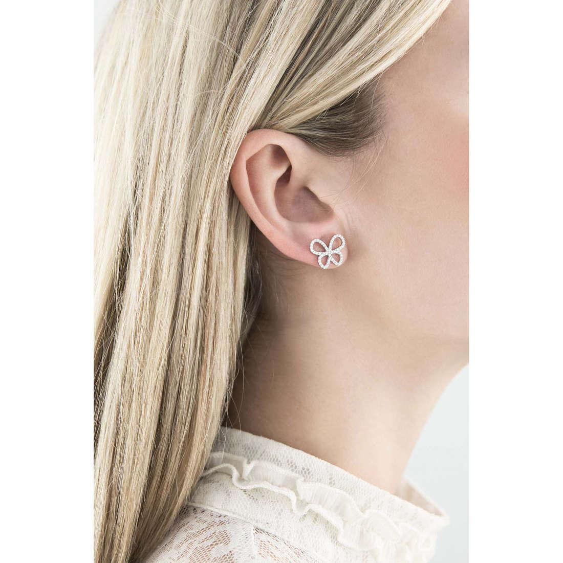 Comete orecchini Farfalle donna ORA 106 indosso