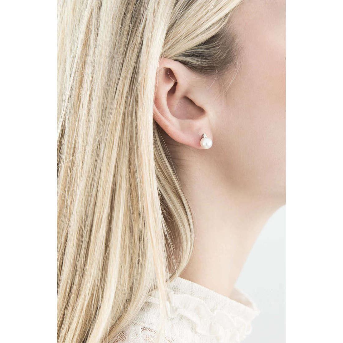 Comete orecchini Easy Basic donna ORP 543 indosso