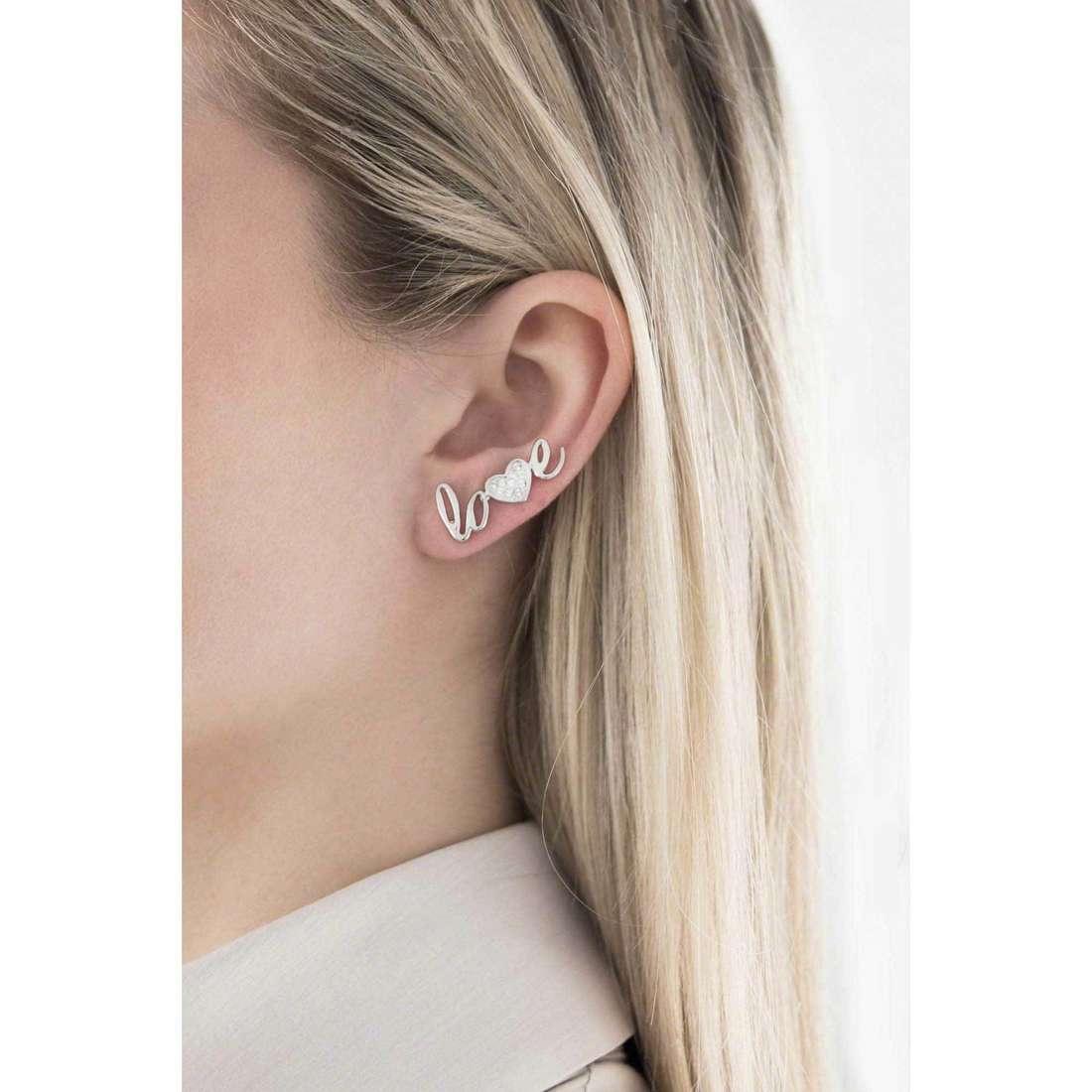 Morellato orecchini I-Love donna SAEU04 indosso