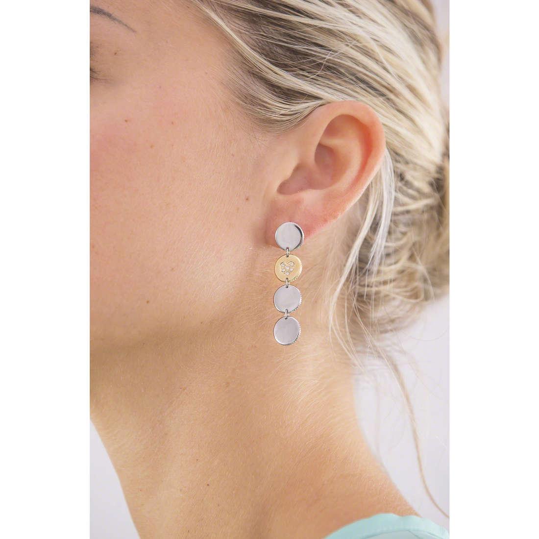 Morellato orecchini Monetine donna SAHQ04 indosso