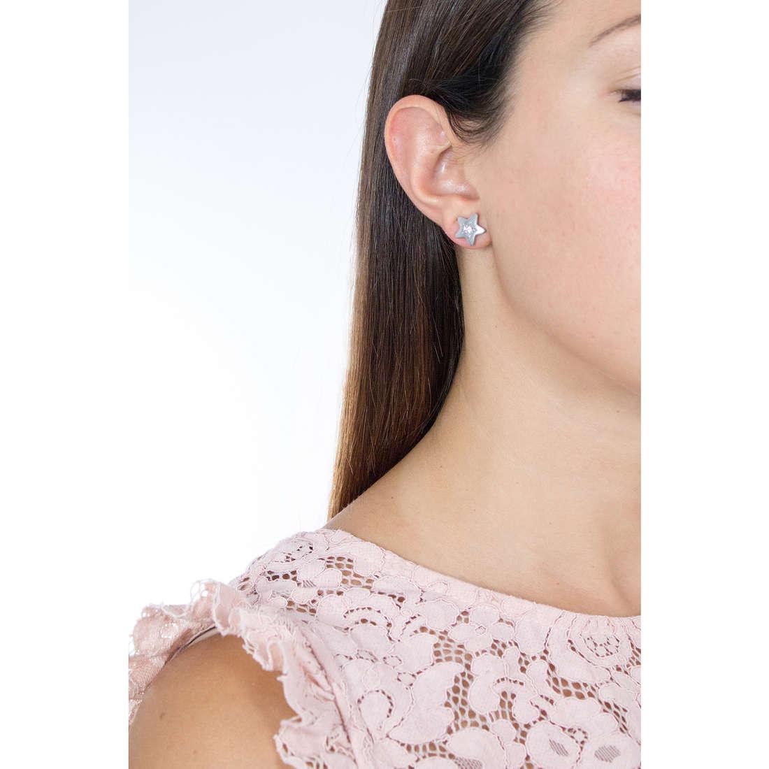 Sagapò orecchini Estrella donna SRE33 indosso
