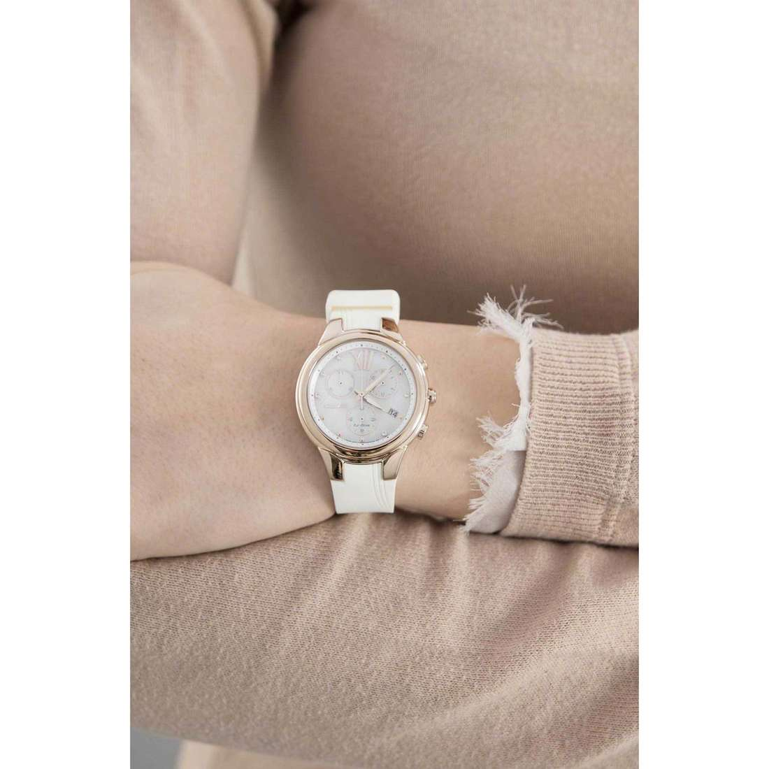 Citizen cronografi Eco-Drive donna FB1313-03A indosso