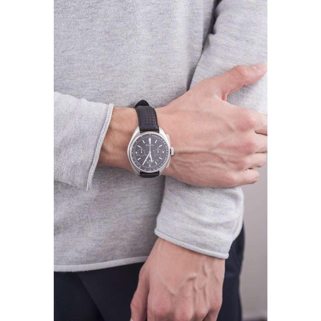 Bulova cronografi Moon Watch uomo 96B251 indosso