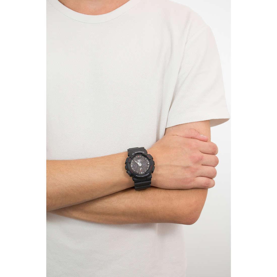Casio digitali G-Shock uomo GA-120-1AER indosso