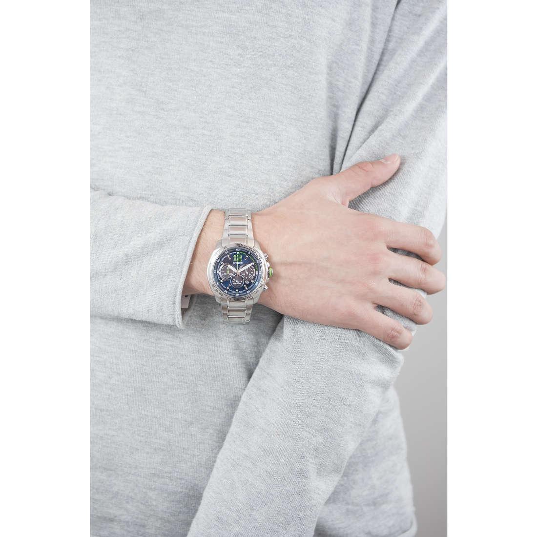 Citizen cronografi Eco-Drive uomo CA4230-51L indosso