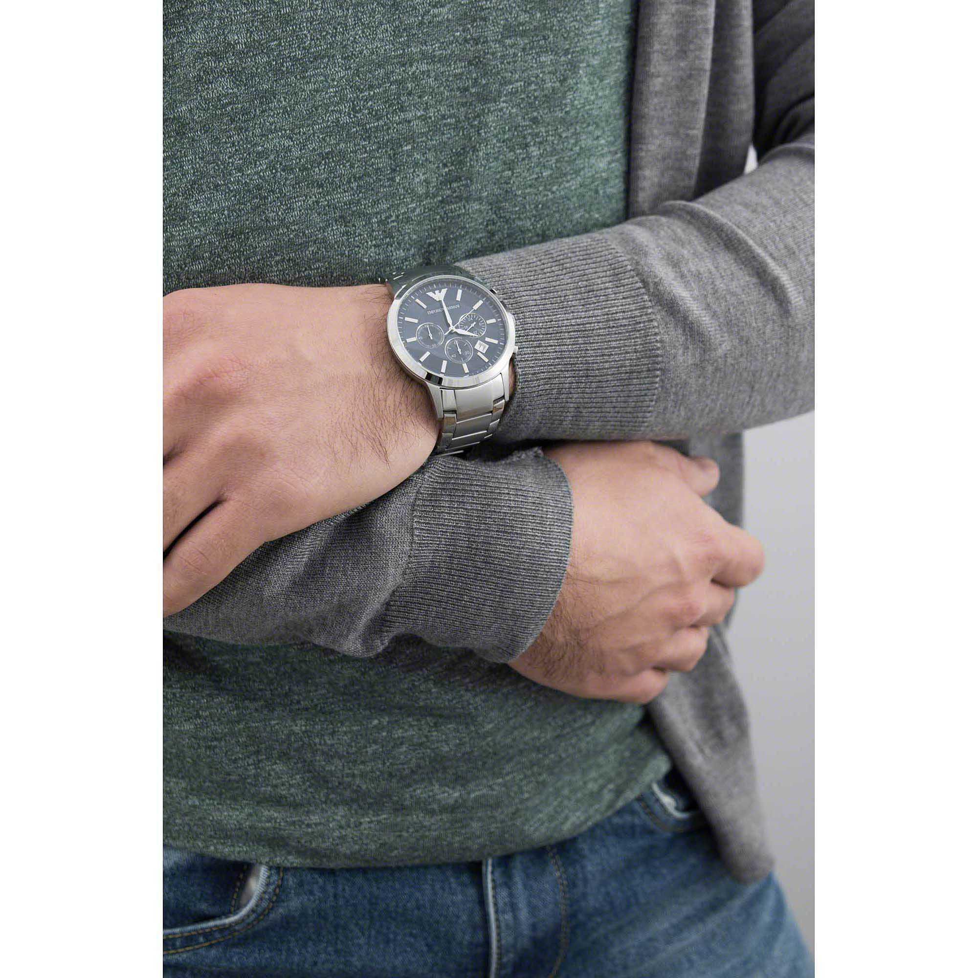 2d4b88b880 orologio cronografo uomo Emporio Armani AR2448 cronografi Emporio Armani