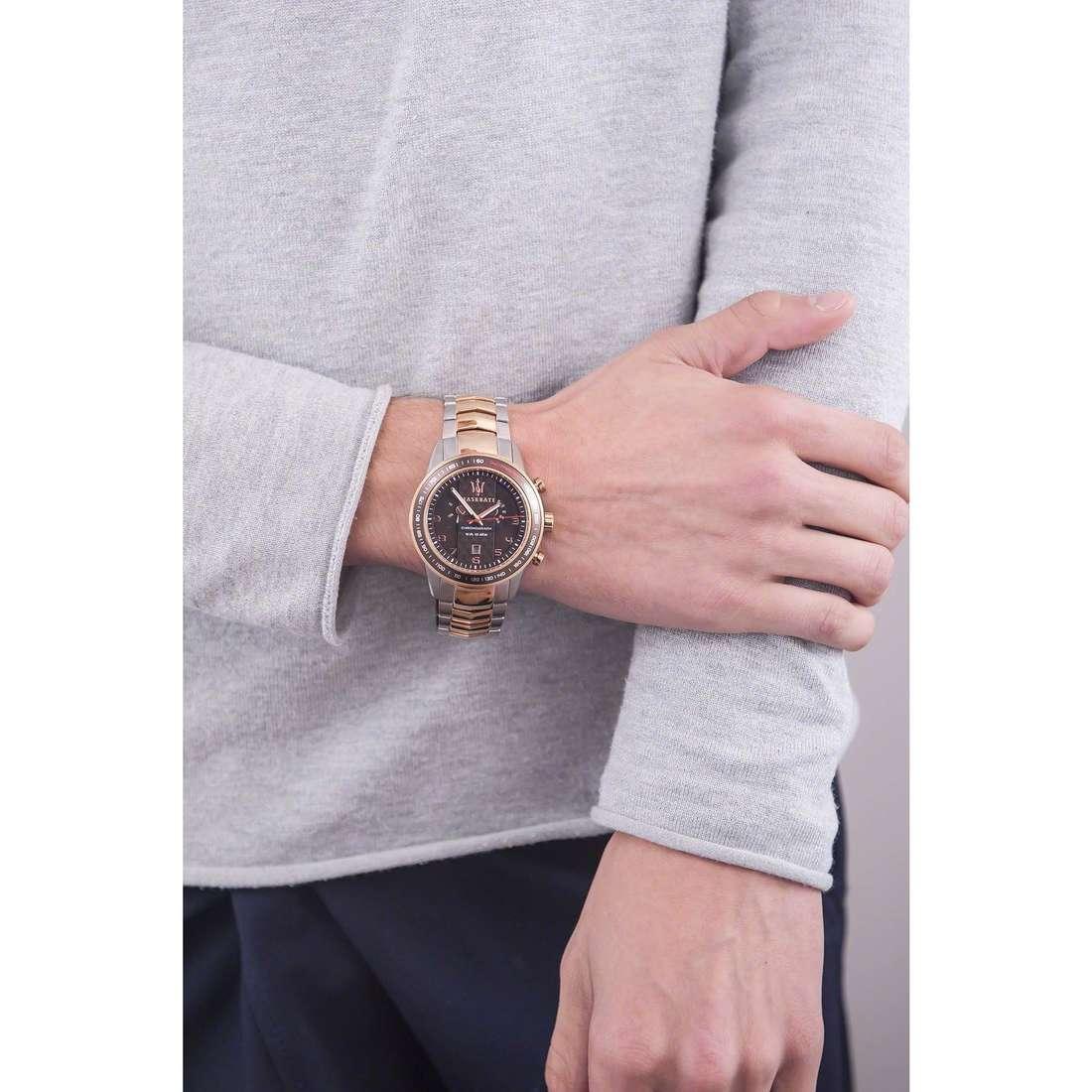 Maserati cronografi Corsa uomo R8873610004 indosso