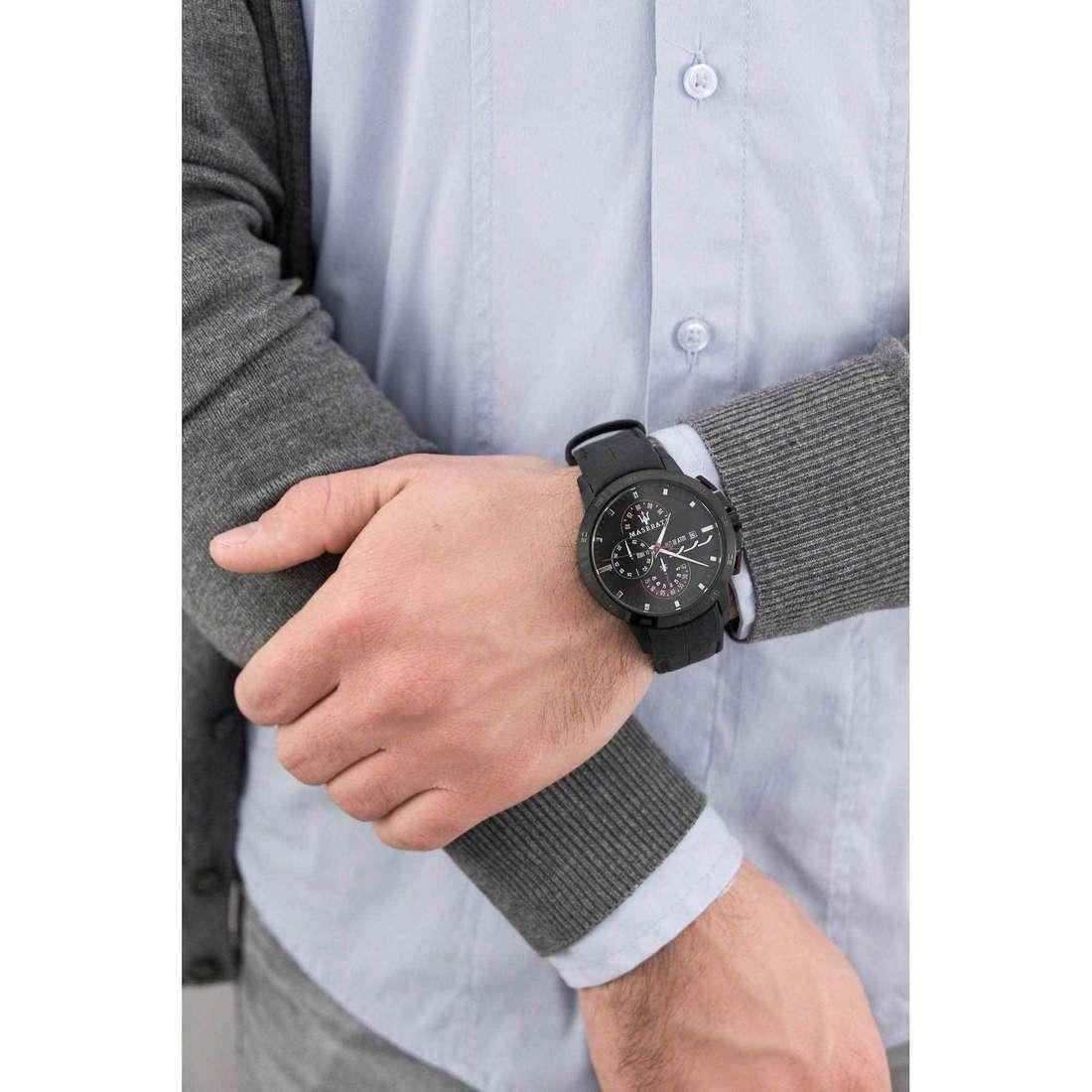 Maserati cronografi Ingegno uomo R8871619003 indosso