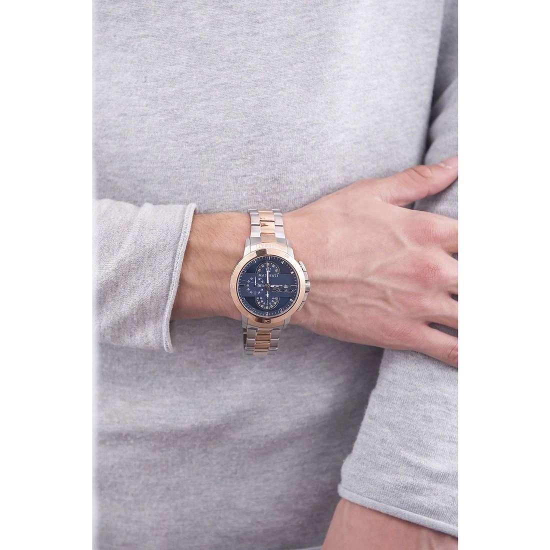 Maserati cronografi Ingegno uomo R8873619002 indosso