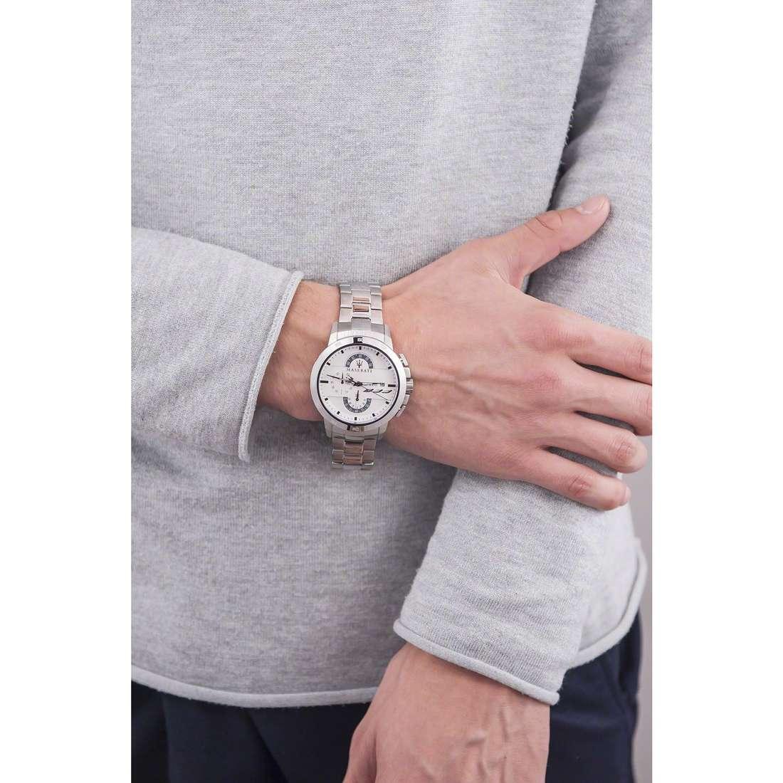Maserati cronografi Ingegno uomo R8873619004 indosso