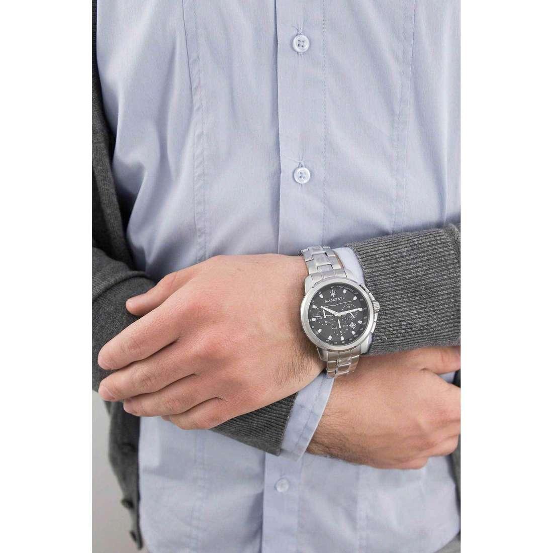 Maserati cronografi Successo uomo R8873621001 indosso