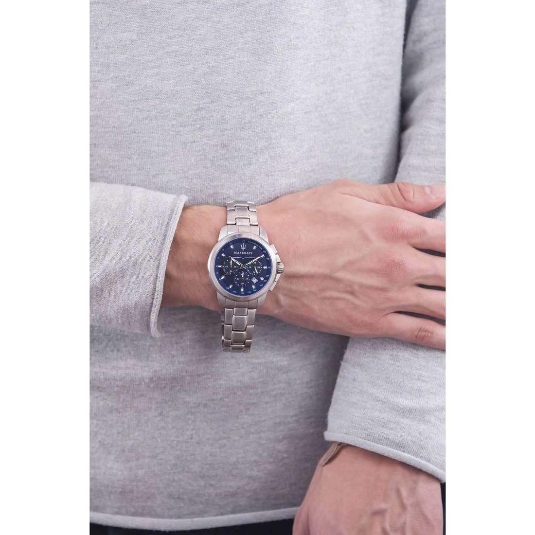 Maserati cronografi Successo uomo R8873621002 indosso
