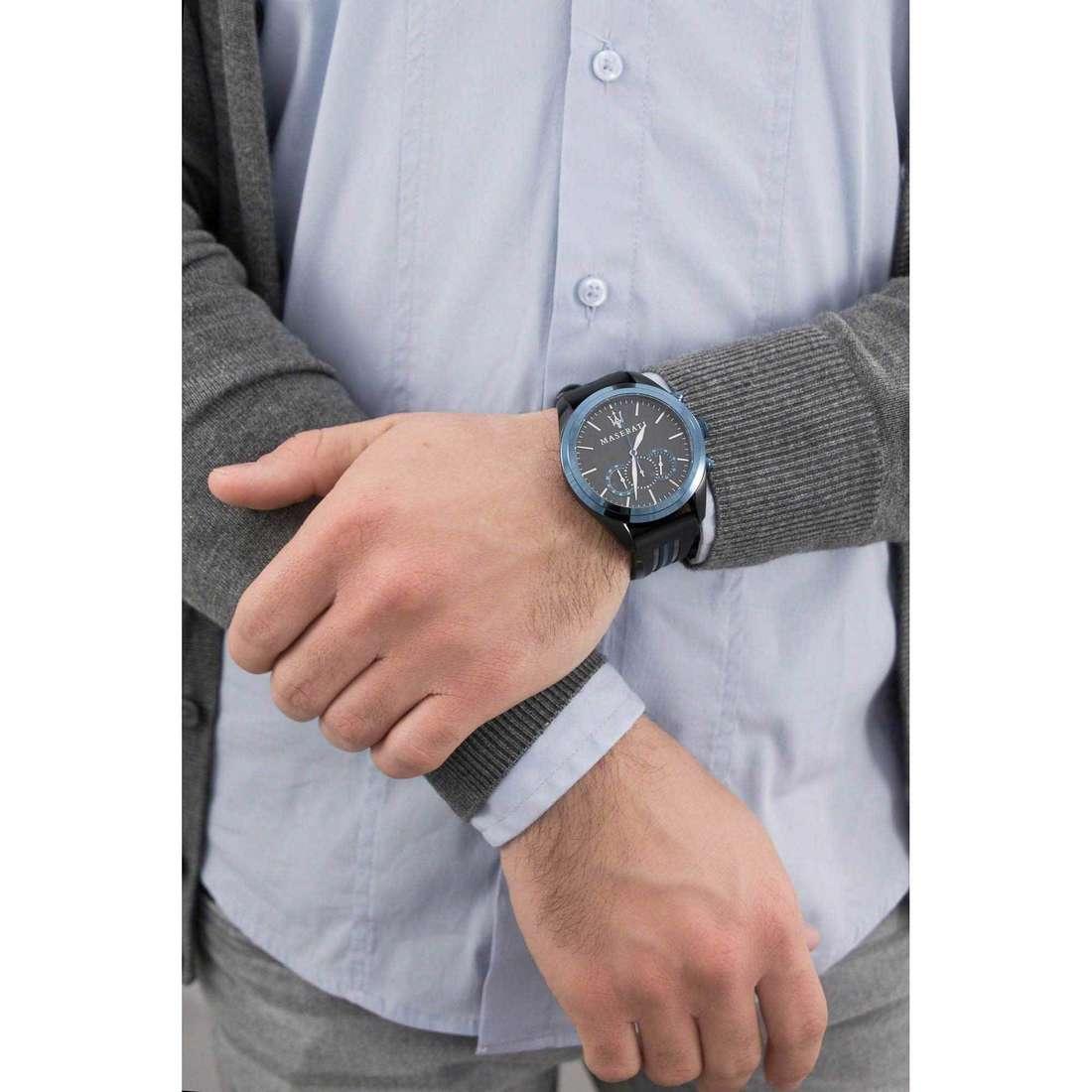 Maserati cronografi Traguardo uomo R8871612006 indosso