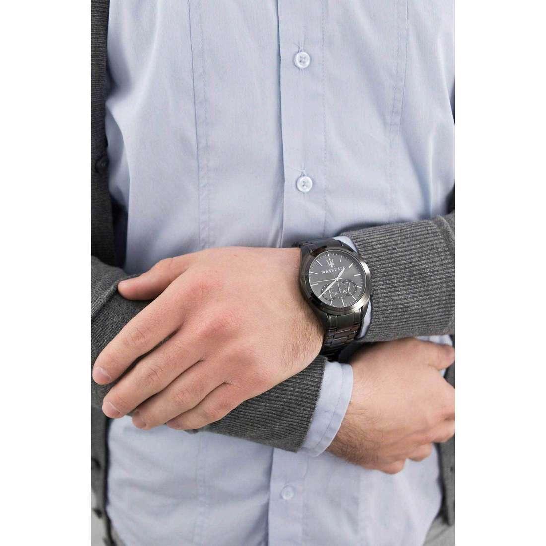 Maserati cronografi Traguardo uomo R8873612002 indosso