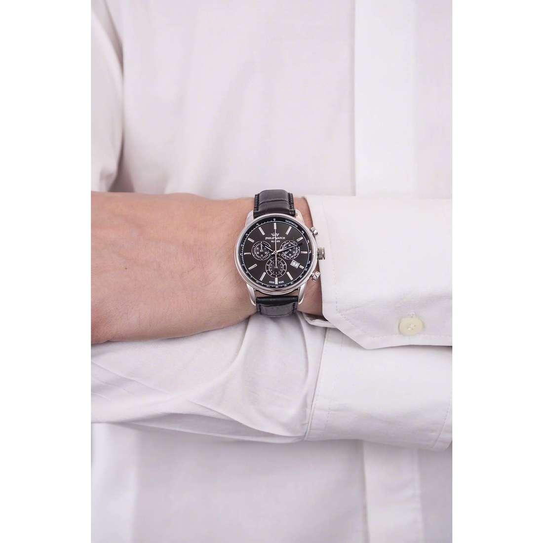 Philip Watch cronografi Kent uomo R8271678004 indosso