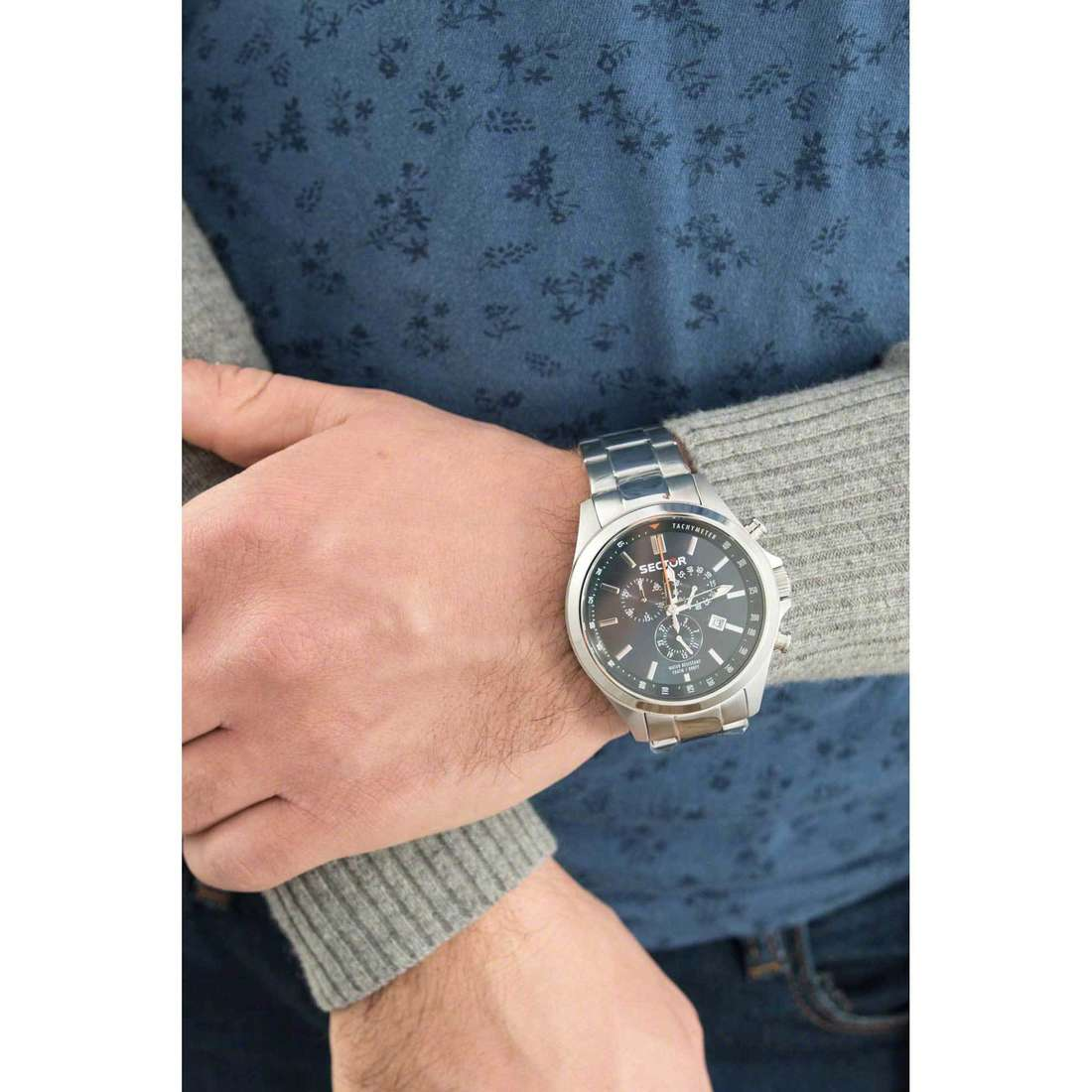 Sector cronografi 180 uomo R3273690009 indosso