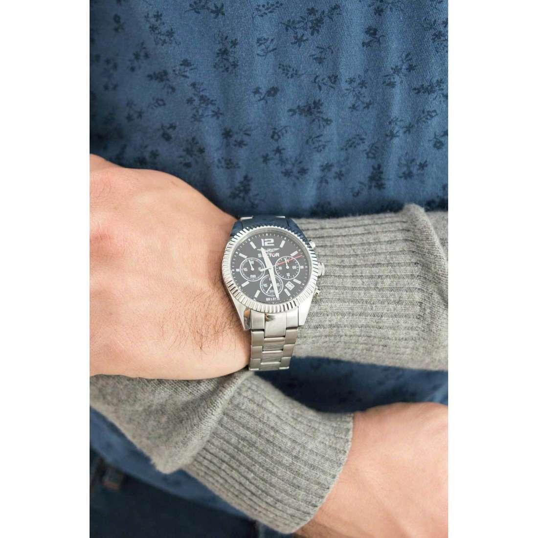 Sector cronografi uomo R3273676003 indosso
