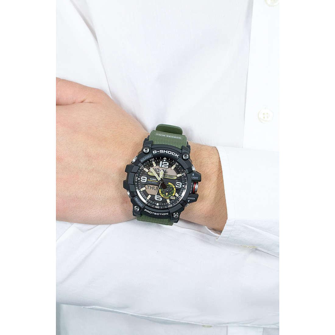 Casio digitali G-Shock uomo GG-1000-1A3ER indosso