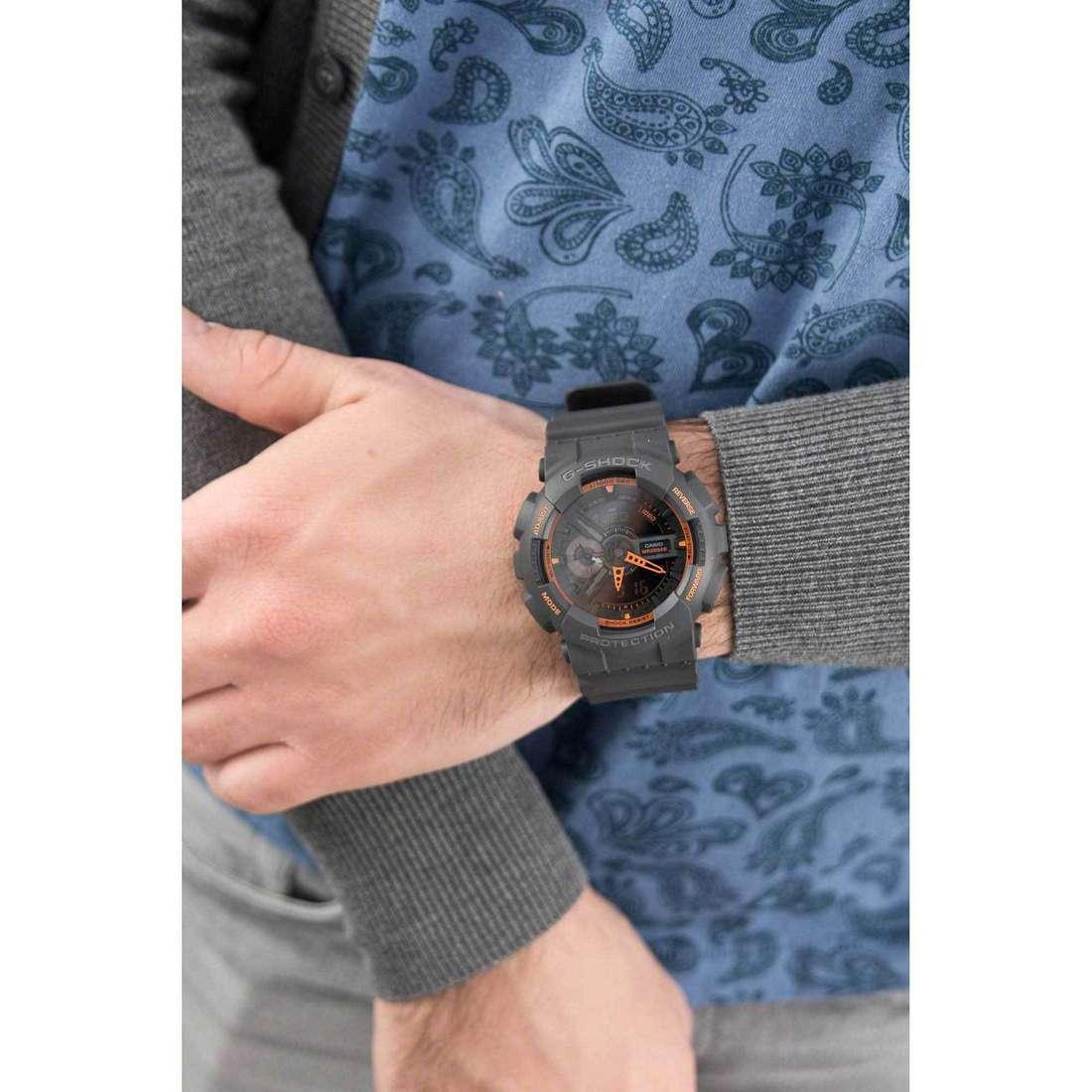 Casio digitali G-Shock uomo GA-110TS-1A4ER indosso