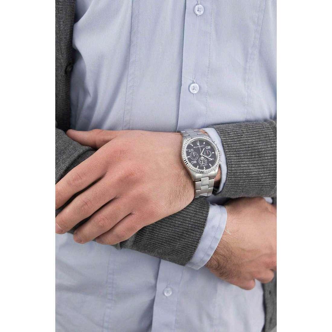 Maserati cronografi Competizione uomo R8853100012 indosso