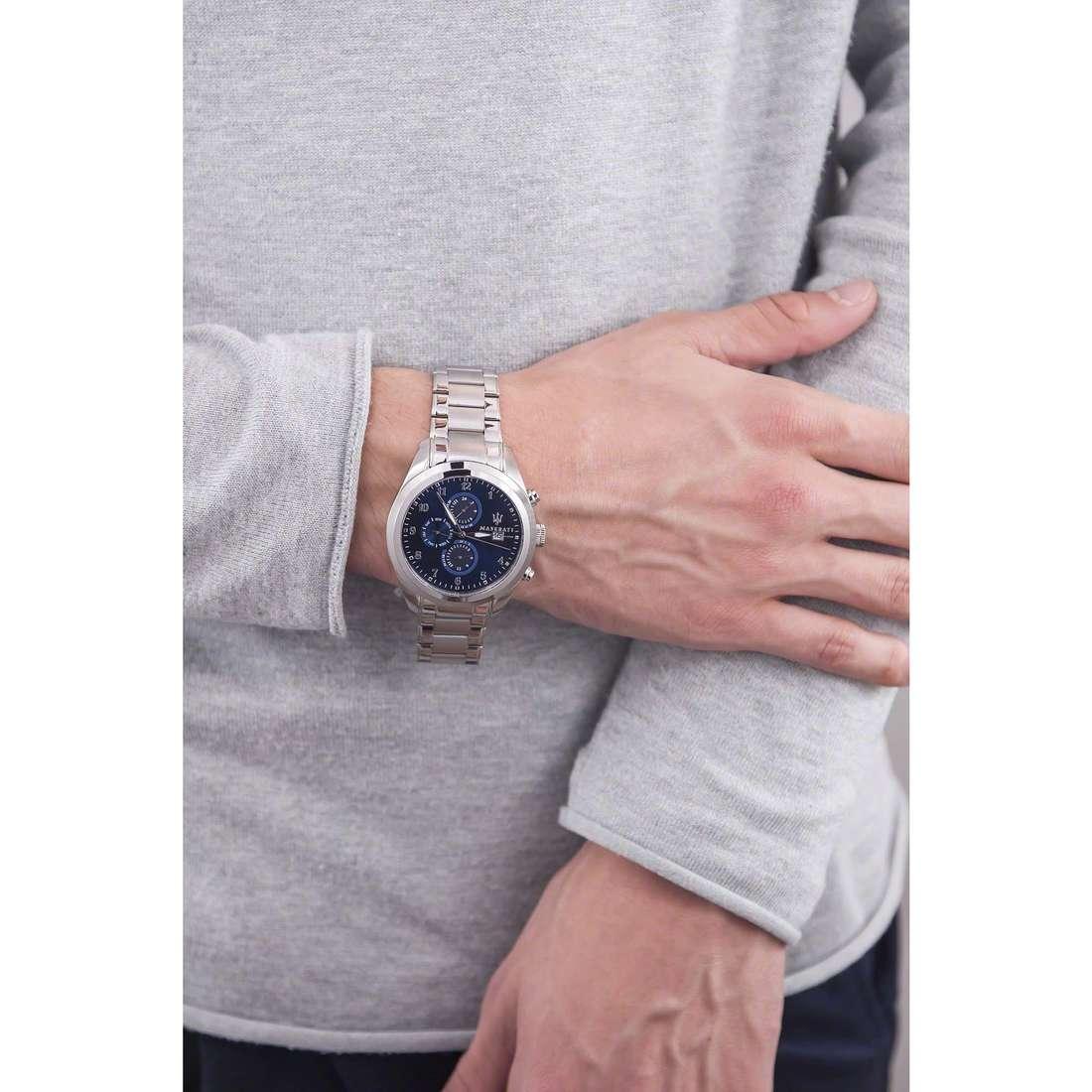 Maserati cronografi Traguardo uomo R8853112505 indosso