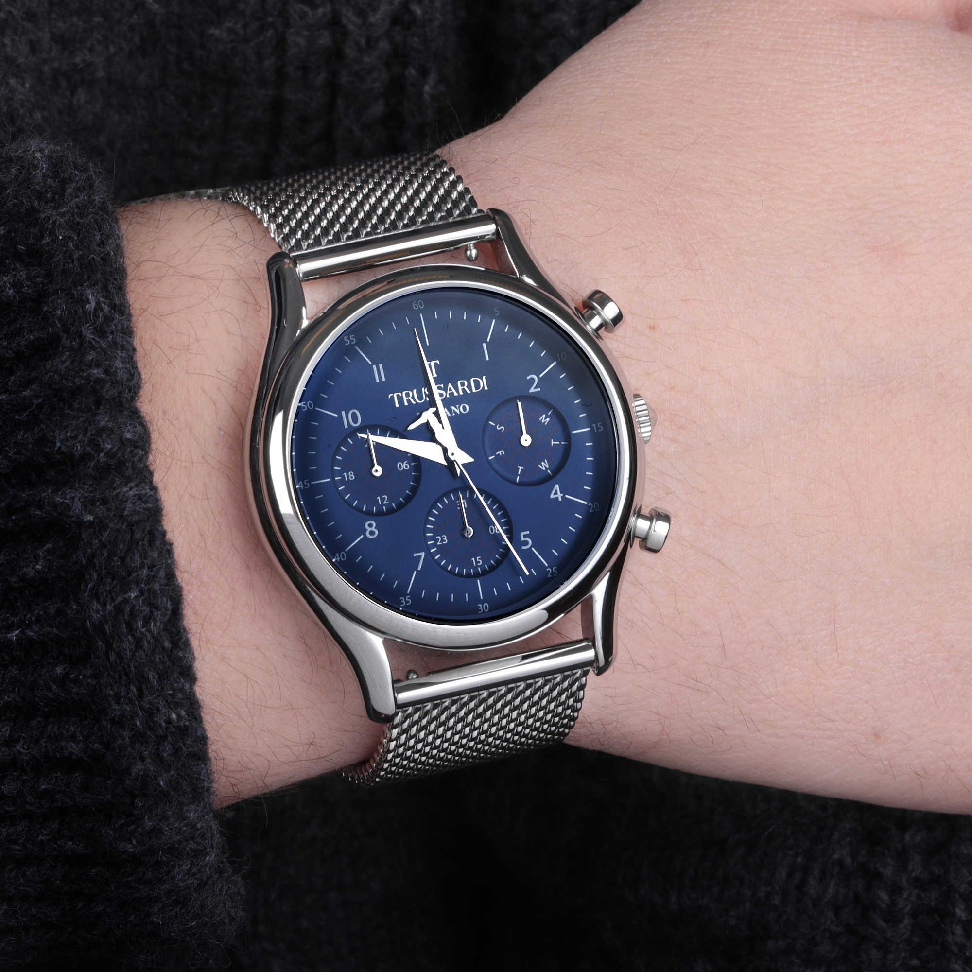 elegante in arrivo nuovo stile e lusso orologio multifunzione uomo Trussardi T-Light R2453127005