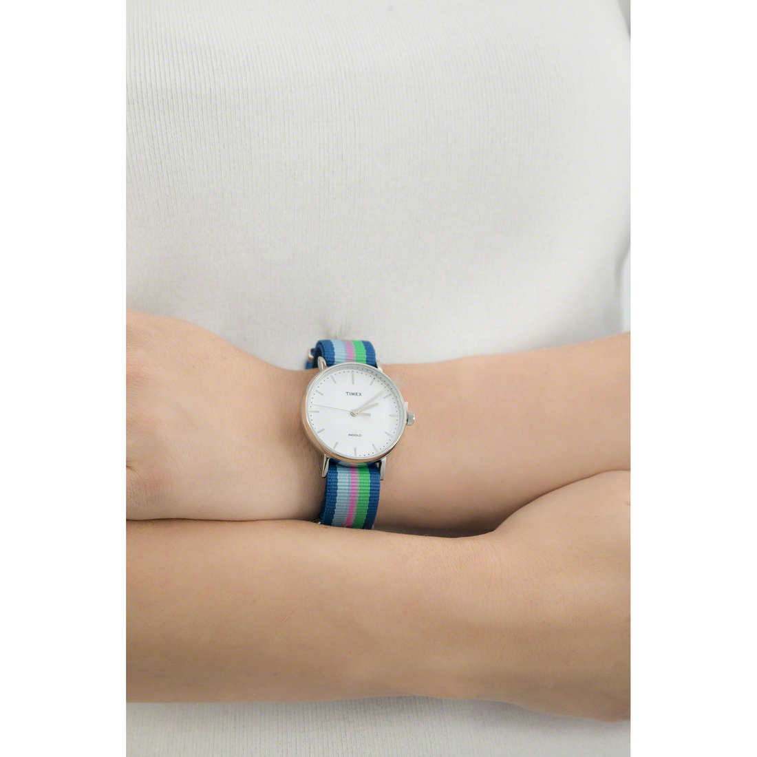 Timex solo tempo Weekender donna TW2P91700 indosso