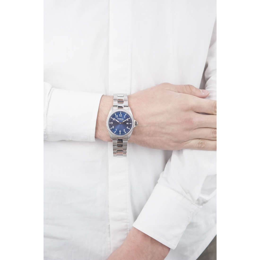 Breil solo tempo Classic Elegance Extension uomo EW0235 indosso