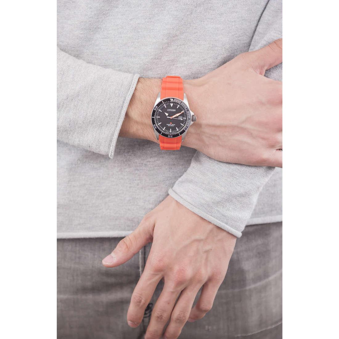 Citizen solo tempo Promaster uomo BN0100-18E indosso
