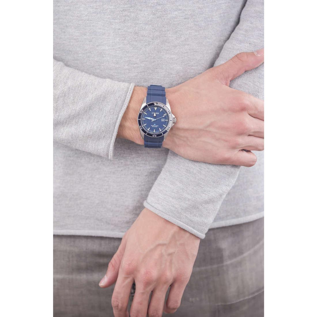 Citizen solo tempo Promaster uomo BN0100-34L indosso
