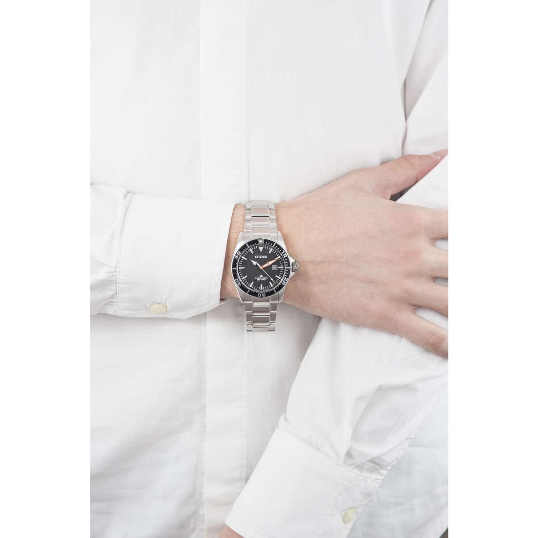Citizen solo tempo Promaster uomo BN0100-51E indosso