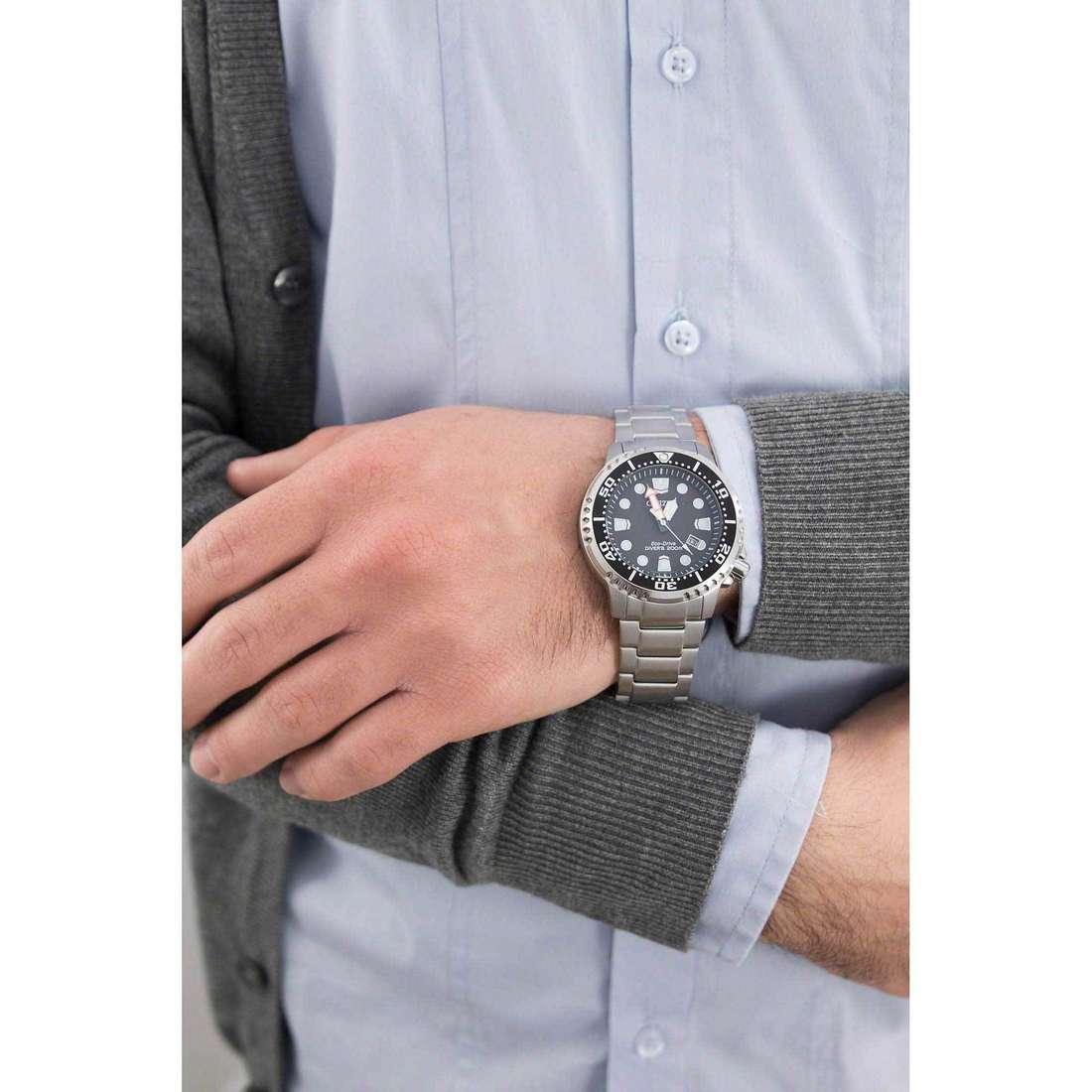 Citizen solo tempo Promaster uomo BN0150-61E indosso
