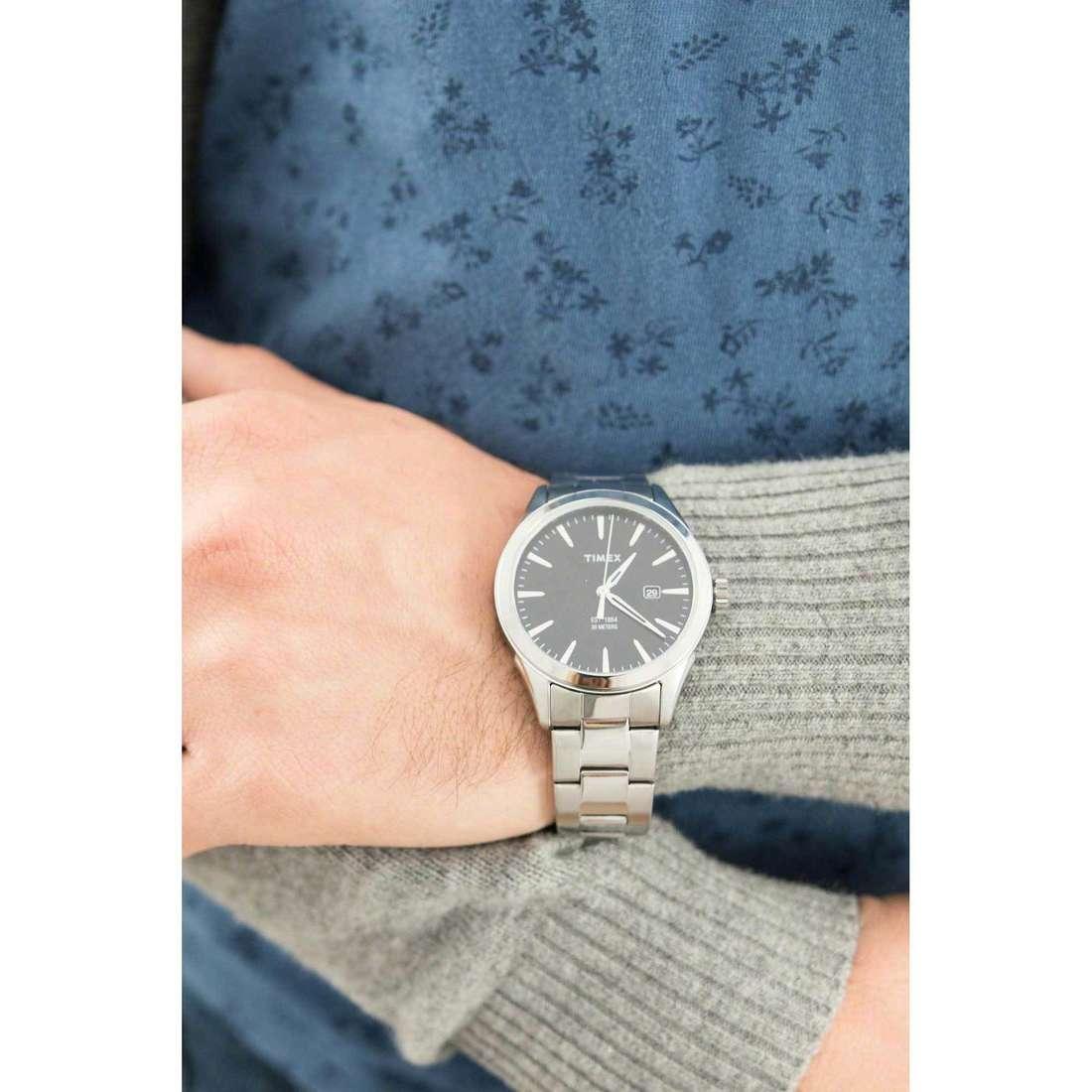 Timex solo tempo Style uomo TW2P77300 indosso