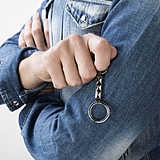 Nomination portachiavi Steelikons uomo 026804/030 indosso